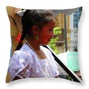 Cuenca Kids 94 Throw Pillow by Al Bourassa
