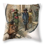 Culpepers Rebellion, 1677 Throw Pillow