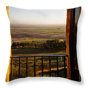 Cultivated Land In Spain Throw Pillow