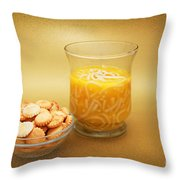 Cup O Soup And Oyster Crackers Throw Pillow