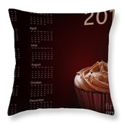 Cupcake Calendar 2013 Throw Pillow by Jane Rix