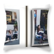 Curb Resting - Gently Cross Your Eyes And Focus On The Middle Image Throw Pillow