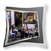 Curb Resting Throw Pillow