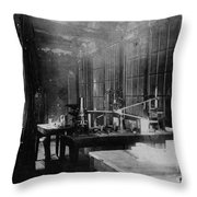 Curie Laboratory Throw Pillow
