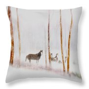 Curious Visitors Throw Pillow