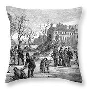 Curling, 1853 Throw Pillow