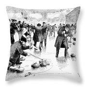 Curling, 1884 Throw Pillow
