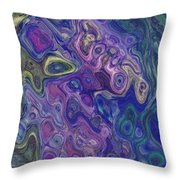 Curlyque Blue Abstract Throw Pillow