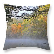 Current River Fall 44r Throw Pillow