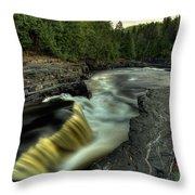 Current River Falls Throw Pillow