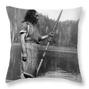Curtis: Nootka Man, C1910 Throw Pillow