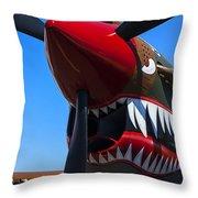 Curtiss P-40n-5 Kittyhawk Throw Pillow