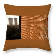 Curved Balconies Throw Pillow