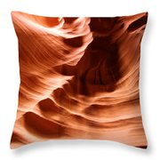 Curves In The Canyon Throw Pillow