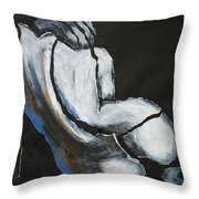 Curves20 - Female Nude Throw Pillow