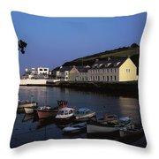 Cushendun Harbour, Co Antrim, Ireland Throw Pillow