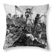 Custers Last Fight Throw Pillow
