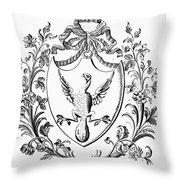 Custis: Coat Of Arms Throw Pillow