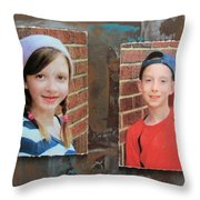 Custom Photo Portrait Group Throw Pillow
