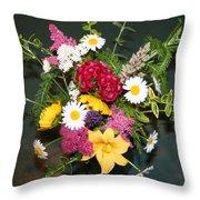 Cut Flowers Throw Pillow