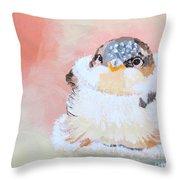 Cute Baby Birdy Throw Pillow