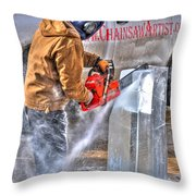 Cutting Ice Throw Pillow