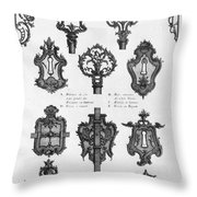 Cuvilli�s: Locks And Keys Throw Pillow