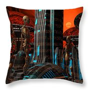 Cyber Innovation Throw Pillow