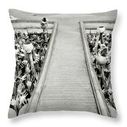 Cycle Of Rebirth At Wat Rong Khun In Thailand Throw Pillow by Shaun Higson