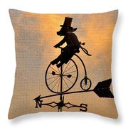 Cycling Pig Throw Pillow