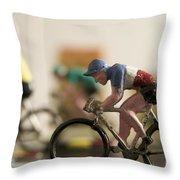 Cyclists. Figurines. Symbolic Image Tour De France Throw Pillow