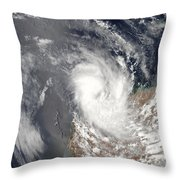 Cyclone Dominic Off The Shore Throw Pillow