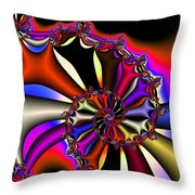 Cyclone Of Color Throw Pillow
