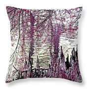 Cypress People Gather Throw Pillow