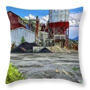 D And Rg Rail Yard In Salida Co Throw Pillow