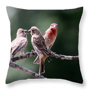 Daddy Waits Throw Pillow