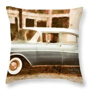 Dad's Old Car Throw Pillow