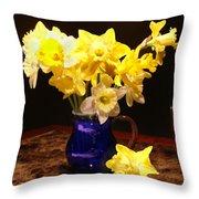 Daffodil Bouquet Throw Pillow