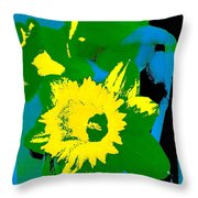 Daffodils 8 Throw Pillow