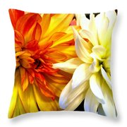 Dahlia Days Throw Pillow