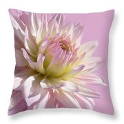 Dahlia Flower Pretty In Pink Throw Pillow