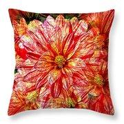 Dahlia Illusion Throw Pillow