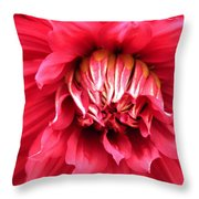 Dahlia In Red Throw Pillow