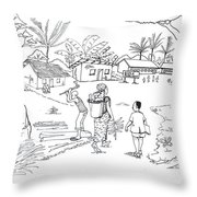 Daily Life In South And Center Cameroon 02 Throw Pillow