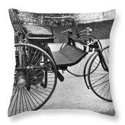 Daimler Automobile, 1889 Throw Pillow