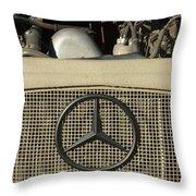 Daimler-benz A-g Hood Emblem Throw Pillow