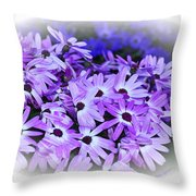 Daisy Garden Vignette Throw Pillow