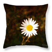 Daisy Is Single But Not Lonely  Throw Pillow