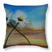 Daisy Mates Throw Pillow