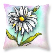 Daisy Thoughts Throw Pillow